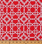 Cotton Wicker White Wicker Design on Red Cotton Fabric Print by the Yard (DC6034-REDX-D)