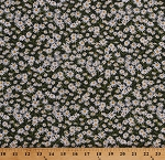 Cotton Daisies White Daisy Flowers Floral Nature Landscape Abundant Garden Cotton Fabric Print by the Yard (21846-10WHITE)