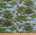 Cotton Ducks Mallard Duck Birds Lake Pond Marsh Wildlife Lakeside Cotton Fabric Print by the Yard (50199-X)