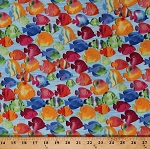 Cotton Tropical Fish Fishes Sea Ocean Aquatic Nature Blue Cotton Fabric Print by the Yard (APB-72670-59OCEAN)