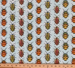 Cotton Lady Bugs Beetles Insects Cotton Fabric Print by the Yard CJ6445-SKYX-D