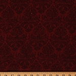 Cotton Words to Live By Coordinate Red Baroque Cotton Fabric Print by Yard (1828-82454-333)