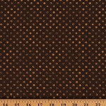 Cotton Words to Live By Coordinate Brown Polka Dots Cotton Fabric Print by Yard (82455-222)