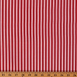 Cotton Festival Red and White Stripe Cotton Fabric Print by Yard (36297-D65018)