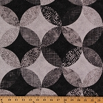 Cotton Ambience Coordinate Twilight Gray Geometric Circles Cotton Fabric Print by Yard ( 20708-94)