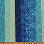 Cotton Ambience Coordinate Lagoon Blue Patterned Stripes Cotton Fabric Print by Yard (20707-44)