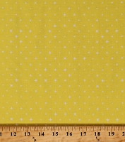 Cotton Stars White Stars on Bright Yellow We Are All Stars Organic Cotton Fabric Print by the Yard (155608)