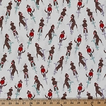 Cotton Monkey 'N Round Sock Monkeys Pogo Sticks Cotton Fabric Print by the Yard (26033-11)