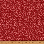 Cotton Moda Holly's Tree Farm Red Holiday Christmas Winter Plant Cotton Fabric Print by Yard (558712)