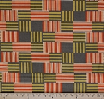 Cotton Contempo Striped Blocks Geometric Patchwork Cotton Fabric Print by the Yard 32842-14