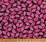 Cotton Japanese Fans Flowers Blossoms Asian Oriental Little Harajuku Pink Gray Cotton Fabric Print by the Yard (06384-22)