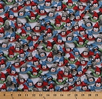 Cotton Penguins with Hats Scarves Winter Holidays Christmas Just Chillin' Cotton Fabric Print by the Yard (1649-25814-X)