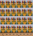 Cotton Colorfully Creative Crayola Crayons Boxes Cotton Fabric Print by the Yard C5402