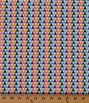 Cotton Colorfully Creative Crayola Crayon Points Triangles Cotton Fabric Print by the Yard C5405 Multi