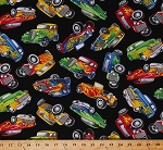 Cotton Hot Rods Antique Cars Classics Vintage Cars Flames Vehicles Automobiles on Black Cotton Fabric Print by the Yard (CAR-C5398-BLACK)