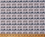 Cotton Jeeps® Jeep® Land-rover Roadster Buggy Vehicles Automobile Transportation Camping Travel Roadtrip Gray Blue White J is for Jeep® Cotton Fabric Print by the Yard (C6462-Gray)