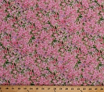Cotton Landscape Flowers Pink Floral Meadow Tribute to Monet Cotton Fabric Print (3892-60482-1)
