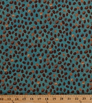Cotton Coffee Beans Bean Espresso Food Kitchen Cafe Barista Coffee House Teal Blue Cotton Fabric Print by the Yard (Y1890-104-TEAL)