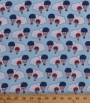 Cotton Hot Air Balloons Ballooning Balloon Festival Blue Sky Clouds Aircraft Summer Patriotic 4th of July Americana American USA Clouds Red White Blue Cotton Fabric Print by the Yard (42344-3)