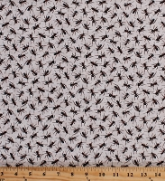 Cotton Ants Insects Bugs on White Nature Boys Kids You Bug Me Cotton Fabric Print by the Yard (120-13821)