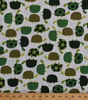 Cotton Turtles Turtle Reptiles Animals Nature Kids Urban Zoologie Green Cotton Fabric Print by the Yard (AAK-11510-47-GRASS)