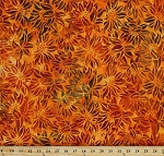 Cotton Batik Sunflowers Orange Flowers Floral Fall Autumnal Thanksgiving Cornucopia 9 Cotton Fabric Print by the Yard (AMD-16828-148PUMPKIN)