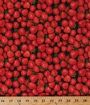 Cotton Strawberry Strawberries Berry Berries Farm Fresh Fruits Foods Gardening Gardeners Cooking Red Farmer J Garden Party Cotton Fabric Print by the Yard (120-13271)