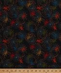 Cotton Spiders Webs Spiderweb Arachnids Arthropods Insects Bugs Bad to the Bone Cotton Fabric Print by the Yard (eok-8626-205-multi)