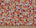 Cotton Candy Corn Halloween Candies Cotton Fabric Print by the Yard (1649-24142-J)