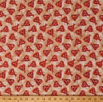 Cotton Lobsters Animals Crustaceans Sea Food Seafood Nautical High Tide Tan Cotton Fabric Print by the Yard (42818-4)