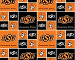 Cotton Oklahoma OK State Cowboys University College Cotton Fabric Print - sosu020s
