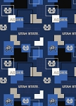 Cotton Utah State Aggies University Patchwork College Cotton Fabric Print (usu1115s)
