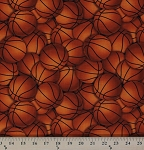 Cotton Orange Basketballs Sports Athletics Cotton Fabric Print by the Yard (Gail-c4818-orange)