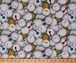 Cotton Sports Volleyball Balls Spike Serve Fabric Print by the Yard Sport 216-White