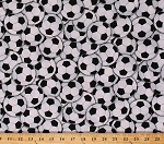 Cotton Soccer Balls Allover Sports Cotton Fabric Print by the Yard Gail-C4820-White