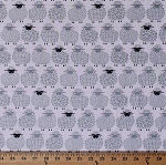 Cotton Sheep Lambs Farm Animals Hearts Wool Ewe Be Mine White Cotton Fabric Print by the Yard (08433-11)
