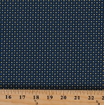 Cotton Stars Starry Polka Dots Spots Circles Blue Yellow Navy Tool Time Cotton Fabric Print By the Yard (3515-49)