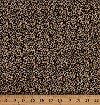 Cotton Leopard Print Animal Prints Skin Spots Cat Fashionista Cotton Fabric Print by the Yard (4131-22213-GOL1)