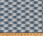 Cotton Splash Canoe Oars Oar Camping Vacation Holiday Summer Blue White Cotton Fabric Print by the Yard (2219)