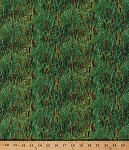Cotton Cattails Bulrushes Grass Landscape Medley Nature Scenic Green Cotton Fabric Print by the Yard (424Green)