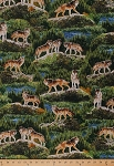 Cotton Bringing Nature Home Wolves Animals Cotton Fabric Print by the Yard AAX-15213-268