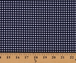 Cotton Small Gingham Checkered Navy Cotton Fabric Print by the Yard (c440-21-navy)