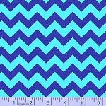 Blue Chevron Stripes Striped ZigZag Barnegat Bay Coordinate Nautical Cotton Fabric Print by the Yard (r37-9582-0120)