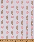 Cotton Sea Rigging Seashells Rope Seaside Sailor Coral White Cotton Fabric Print by the Yard (DC5985-CORA-D)