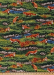 Cotton Bringing Nature Home Red Foxes Animals Cotton Fabric Print by the Yard AAX-15212-268