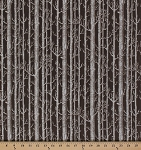 Cotton Bare Trees Forest Winter Woods Bark Cotton Fabric Print by the Yard (N7533-407)