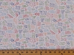 Cotton United States Names Words Explore America Bright Cotton Fabric Print by the Yard (AOM-16039-195-bright)