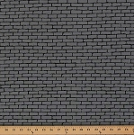 Cotton Dapper Prints Walls Cement Bricks Pavement Stones Gray Cotton Fabric Print by the Yard (45002-21)