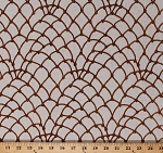 Cotton Rope Net Ropes Nautical Pirates Buried Treasure Cream Cotton Fabric Print by the Yard (05395-07)