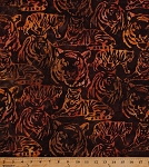 Cotton Tigers Tiger Wild Animals Wildlife Big Cats Wildcats Nature Jungle Kalahari 6 Artisan Batik Cotton Fabric Print by the Yard (AMD-16093-286wild)